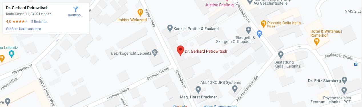 Dr. Gerhard Petrowitsch in 8430 Leibnitz-Kanzlei Standort-Desktop